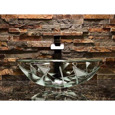 Geo Glass Circular Vessel Bathroom Sink