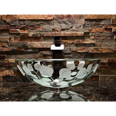 Aspen Glass Circular Vessel Bathroom Sink