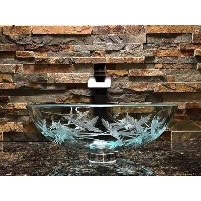 Columbine Sink Glass Circular Vessel Bathroom Sink