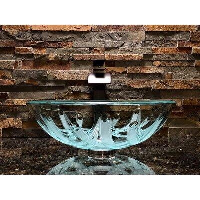 Crown Glass Circular Vessel Bathroom Sink