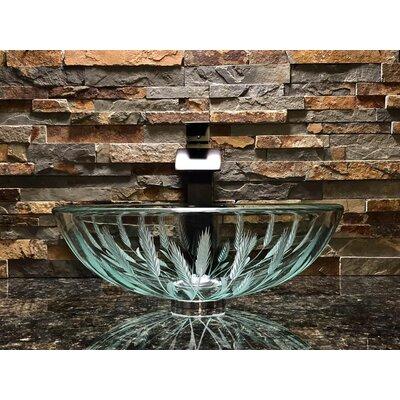 Wheat Glass Circular Vessel Bathroom Sink