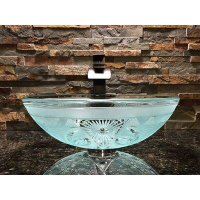 Enigma Glass Circular Vessel Bathroom Sink