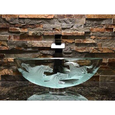 Nokota Glass Circular Vessel Bathroom Sink