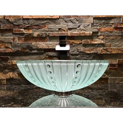 Nova Glass Circular Vessel Bathroom Sink