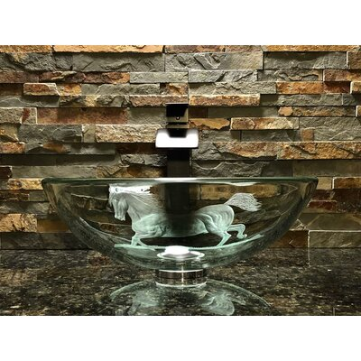 Stallion Glass Circular Vessel Bathroom Sink