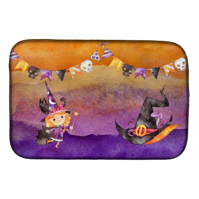 Halloween Little Witch Party Dish Drying Mat