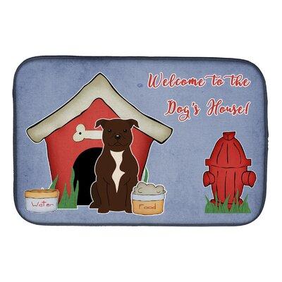 Dog House Staffordshire Bull Terrier Dish Drying Mat Finish: Chocolate
