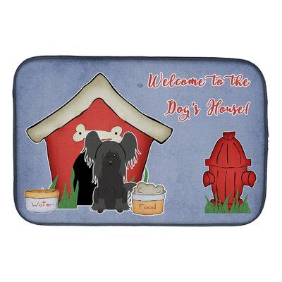 Dog House Chinese Crested Dish Drying Mat Finish: Gray