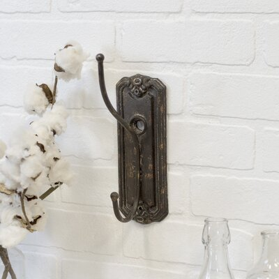 Moy Rustic Metal Wall Hook (Set of 2)