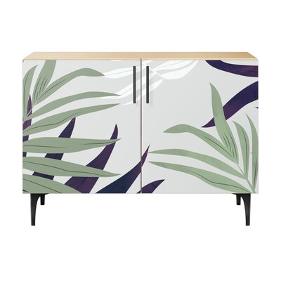Northumberland 2 Door Accent Cabinet Color (Base/Top): Natural/Black