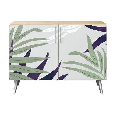 Lyndonville 2 Door Accent Cabinet Color (Base/Top): Natural/Chrome