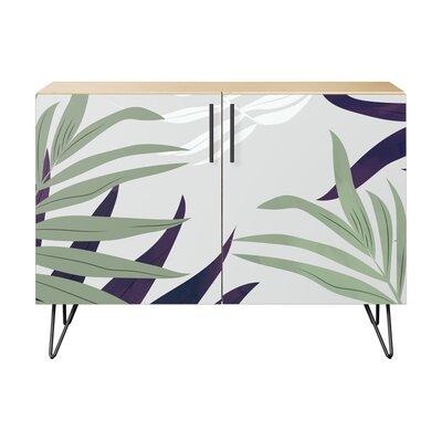 Seabrook 2 Door Accent Cabinet Color (Base/Top): Natural/Black