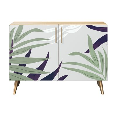 Lyndonville 2 Door Accent Cabinet Color (Base/Top): Natural/Brass