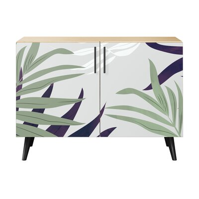 Lyndonville 2 Door Accent Cabinet Color (Base/Top): Natural/Black