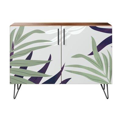 Seabrook 2 Door Accent Cabinet Color (Base/Top): Walnut/Black