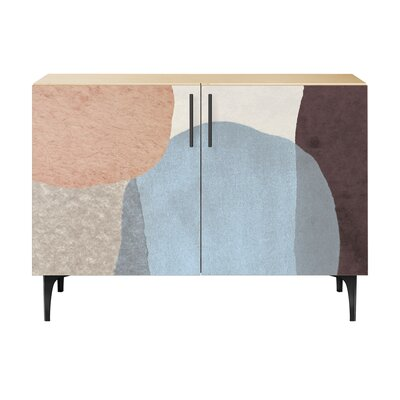 Durgin 2 Door Accent Cabinet Color (Base/Top): Natural/Black