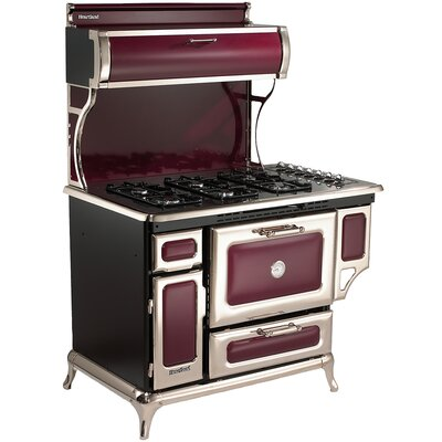 """48"""" Free-standing Gas Range Color: Cranberry"""