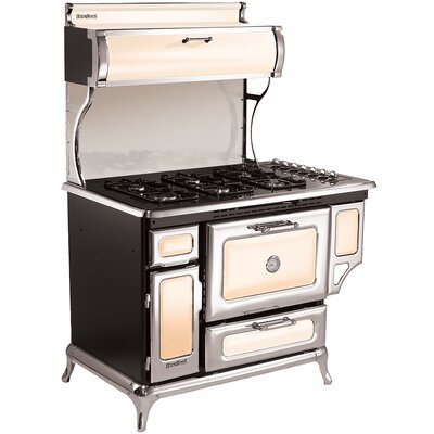 """48"""" Free-standing Gas Range Color: Ivory"""