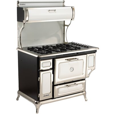 """48"""" Free-standing Gas Range Color: White"""