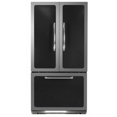 Classic 22.2 cu. Ft. Counter-Depth French Door Refrigerator Color: Black