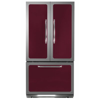 Classic 22.2 cu. Ft. Counter-Depth French Door Refrigerator Color: Cranberry