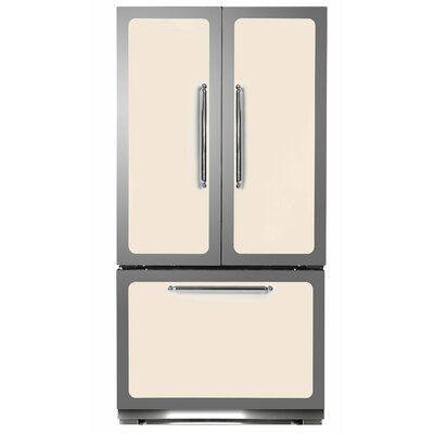 Classic 22.2 cu. Ft. Counter-Depth French Door Refrigerator Color: Ivory