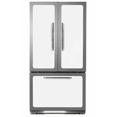 Classic 22.2 cu. Ft. Counter-Depth French Door Refrigerator Color: White