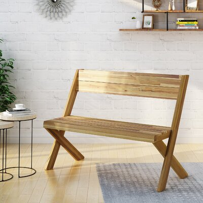 Acacia Wood Bench Color: Sandblast Teak