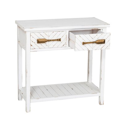 Charlaine White Hall Console Table