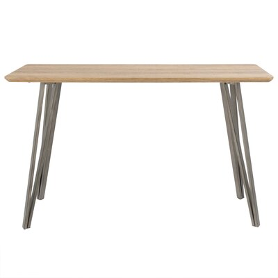 Pinnix Console Table Color: Brown