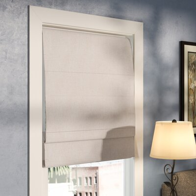 "Kilby Blackout Roman Shade Size: 48"" W x 72"" L, Finish: Linen"