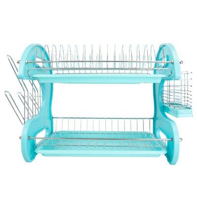 2-Tier Dish Rack Finish: Turquoise