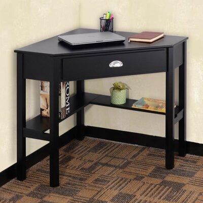 Hueramo Corner Writing Desk Color: Black
