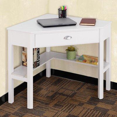 Hueramo Corner Writing Desk Color: White