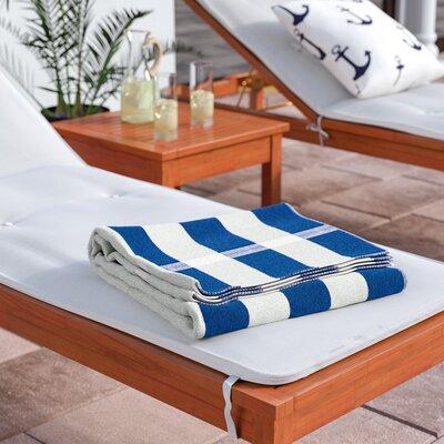 Kelsch 100% Cotton Beach Towel Color: Blue / White