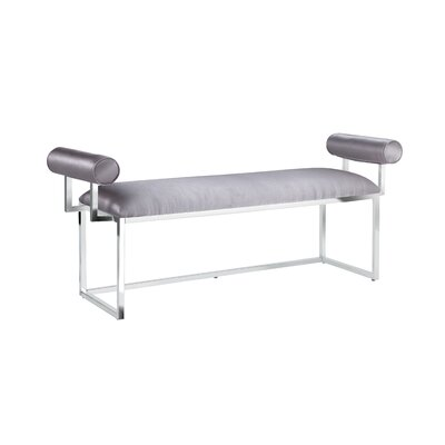 Ingle Bench Upholstery: Silver/Steel, Color: Steel