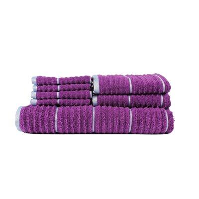 Hogg Extra Soft Zero Twist 7 Piece 100% Cotton Towel Set Color: Purple