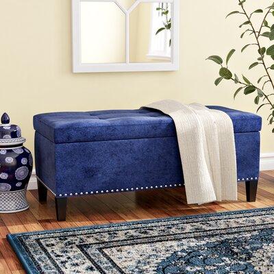 Bretton Upholstered Storage Bench Upholstery: Blue