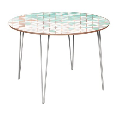 Grimes Dining Table Base Color: Chrome, Top Color: Walnut