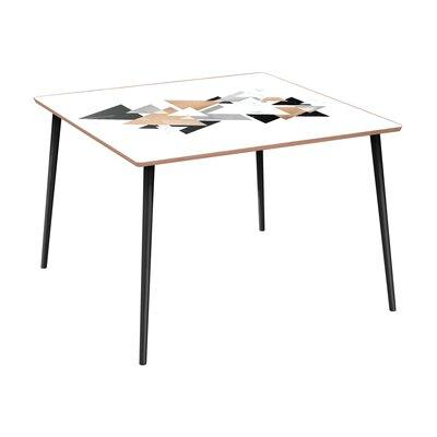 Ledyard Dining Table Base Color: Black, Top Color: Walnut