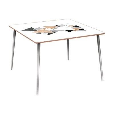 Ledyard Dining Table Base Color: Chrome, Top Color: Walnut