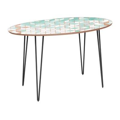 Gowins Dining Table Base Color: Black, Top Color: Walnut