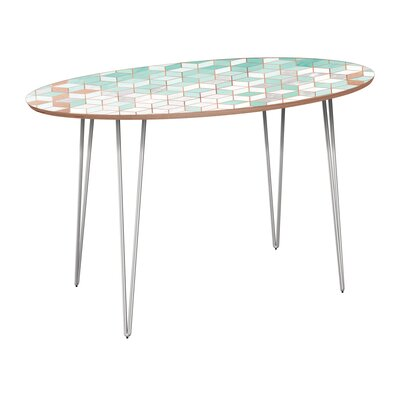 Gowins Dining Table Base Color: Chrome, Top Color: Walnut