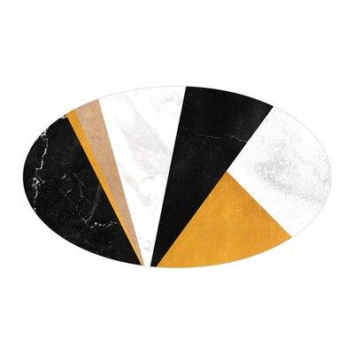 Gunn Dining Table Table Base Color: Chrome, Table Top Color: Walnut