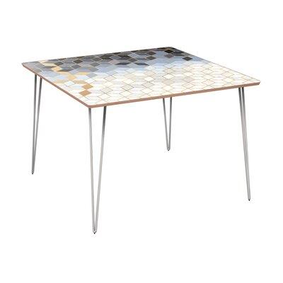 Eisenhauer Dining Table Base Color: Chrome, Top Color: Walnut