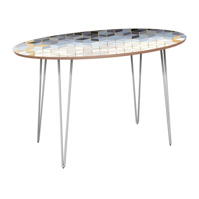 Earlville Dining Table Base Color: Chrome, Top Color: Walnut