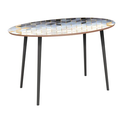 Corinth Dining Table Base Color: Black, Top Color: Walnut