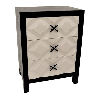 Covert Wood 3 Drawer Accent Chest