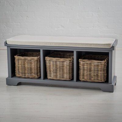 Waltman Solid Wood Storage Bench Color: Dove Gray