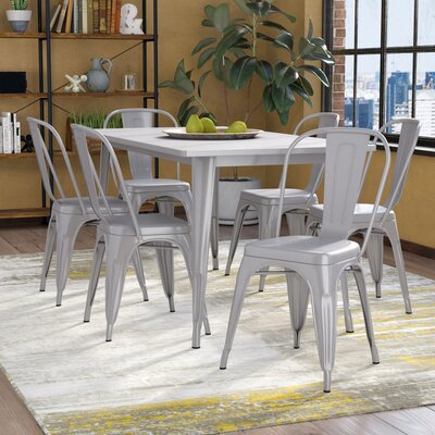 Kingwai 7 Piece Dining Set Finish: Silver